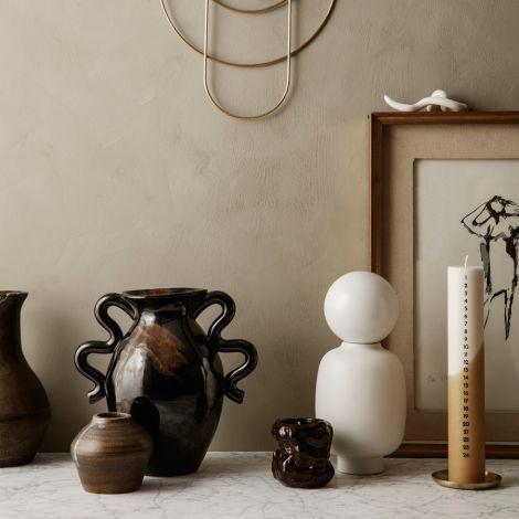 ferm LIVING Vase Verso Black/Brown Splash