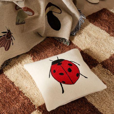 ferm LIVING Kissen bestickt Forest Ladybird 40x40 cm