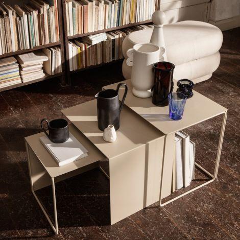 ferm LIVING Beistelltisch Cluster Tables Cashmere 3er-Set