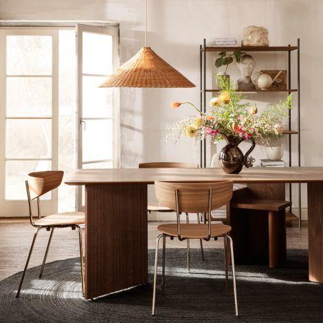 ferm LIVING Stuhl Herman Dining Chair Chrome Walnut