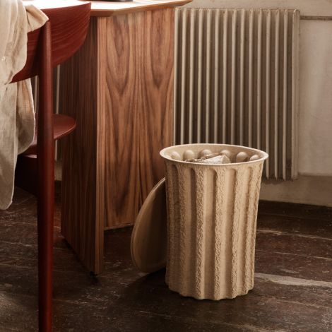 ferm LIVING Papierkorb Paper Pulp Brown