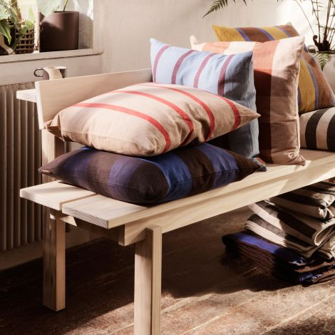 ferm LIVING Decke Grand Quilted Sand/Black