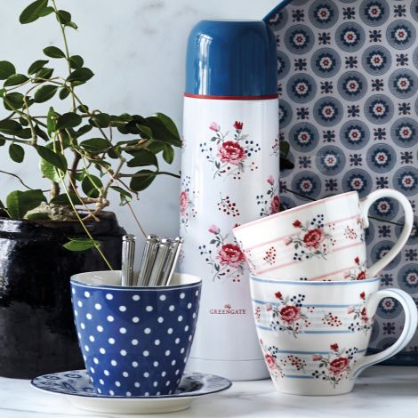 GreenGate Latte Cup Becher Spot Blue