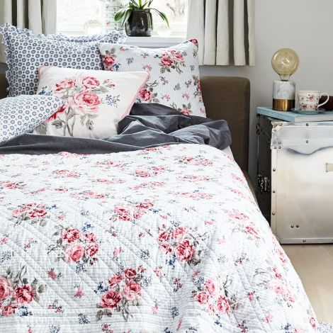 GreenGate Quilt Tagesdecke Elisabeth White 140x220cm