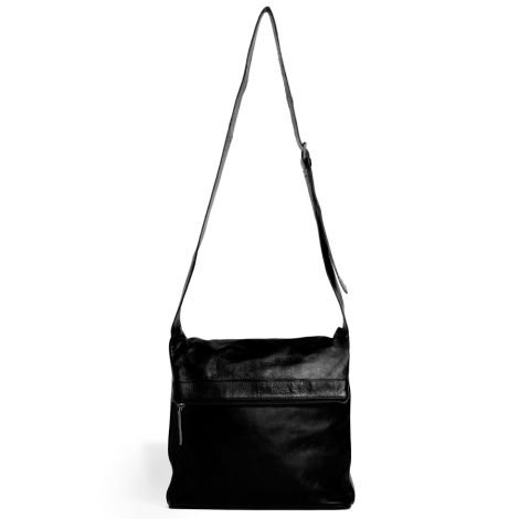 Sticks and Stones Ledertasche Flap Bag Black Washed