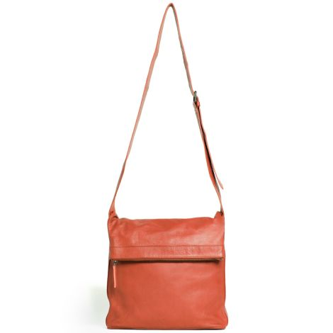 Sticks and Stones Ledertasche Flap Bag Burnt Brick Washed •