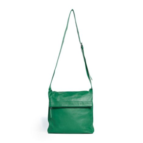 Sticks and Stones Ledertasche Flap Bag Jungle Green Washed