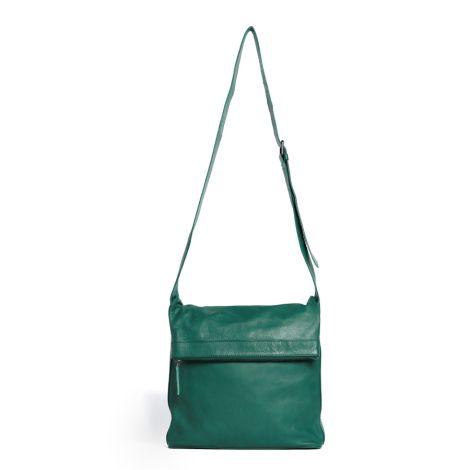Sticks and Stones Ledertasche Flap Bag Washed Pine Green