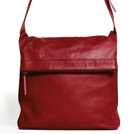 Sticks and Stones Ledertasche Flap Bag Red Washed