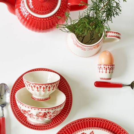 GreenGate Eierbecher Fleur Red •