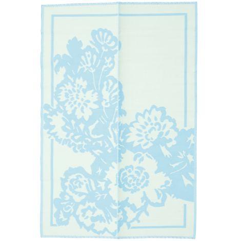 Rice Teppich Kunststoff Big Flower Mint/Creme L •