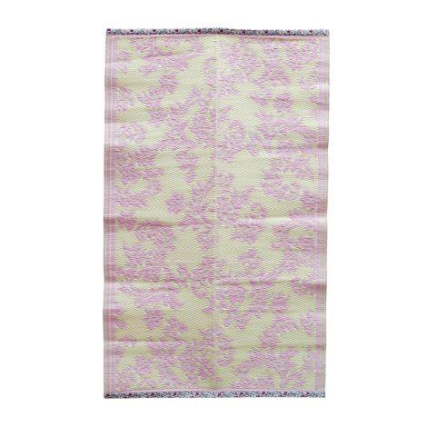 Rice Teppich Kunststoff Flower Bubblegum Pink/Creme S