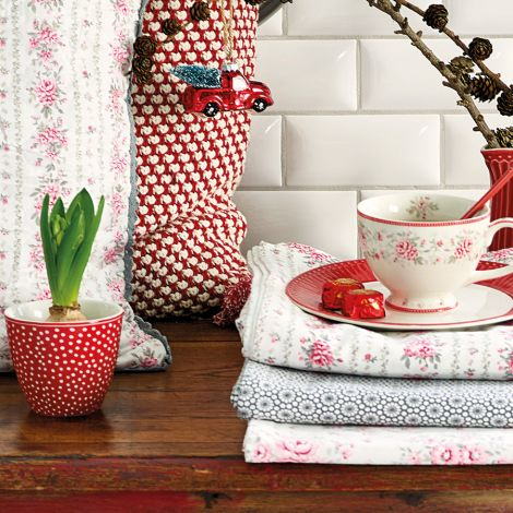 GreenGate Tischdecke Dot Red •