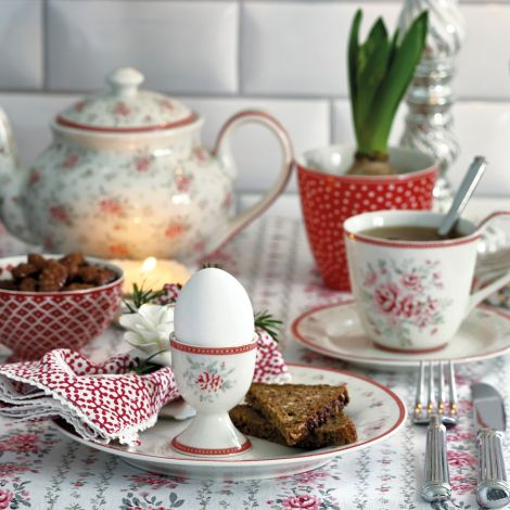 GreenGate Teekanne Flora White •