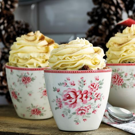 GreenGate Latte Cup Flora White