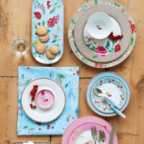 PIP Studio Teebeutel Schälchen Dotted Flower Blue