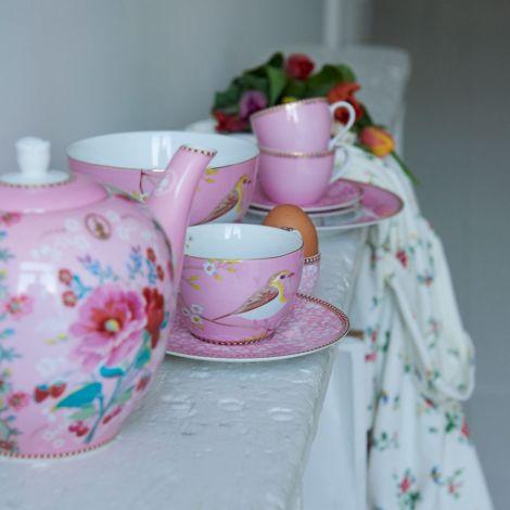 PIP Studio Große Tasse Early Bird Pink 350ml 2er-Set