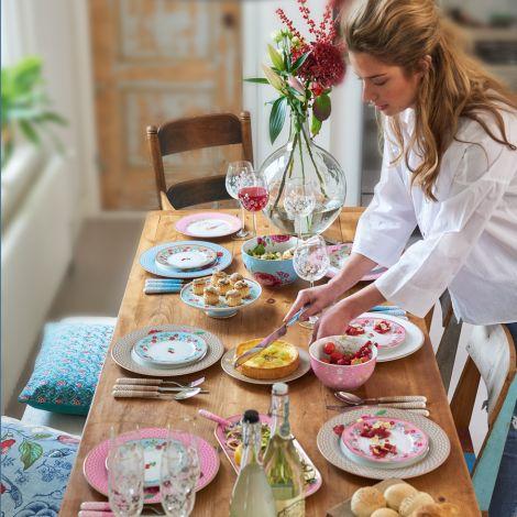 PIP Studio Porzellan Kuchengabel Floral Pink 4er-Set