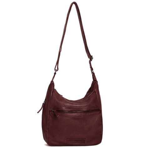 Sticks and Stones Ledertasche Gaia Burgundy •