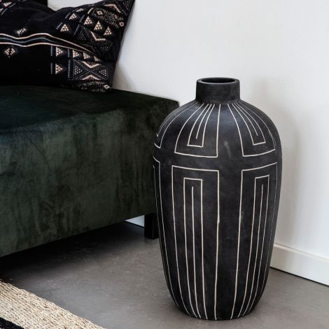 House Doctor Vase Aljeco Grey/Black 55 cm