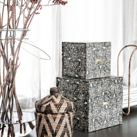 House Doctor Aufbewahrungs-Box Black 2er-Set •