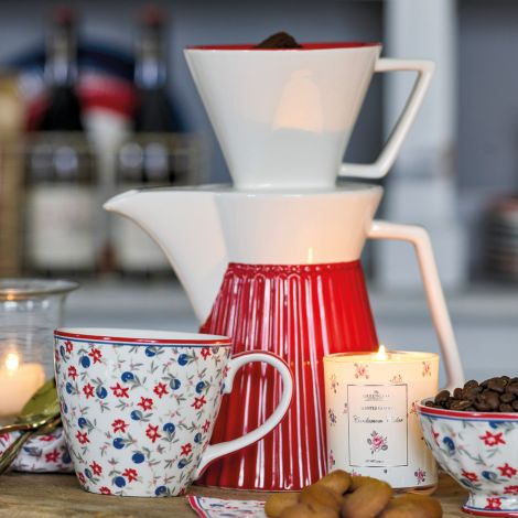 GreenGate Kaffeekanne mit Filter Alice Red
