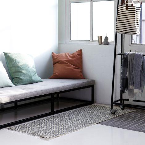 house doctor teppich rhombus blau grau online kaufen emil paula. Black Bedroom Furniture Sets. Home Design Ideas