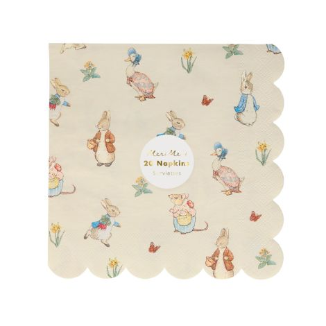 Meri Meri Papierserviette Peter Rabbit & Friends Klein 20 Stk.