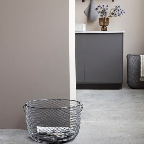 House Doctor Korb Metall Jaipur Laundry Grau 30 cm