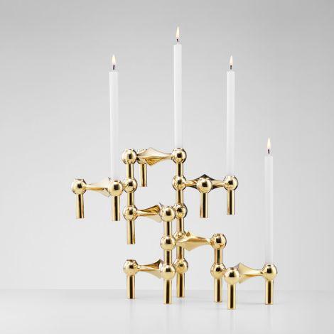 STOFF Nagel Kerzenhalter Brass