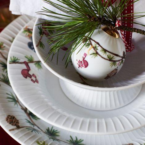 Kähler Design Hammershøi Christmas Tiefer Teller Ø21 cm weiß mit Dekoration