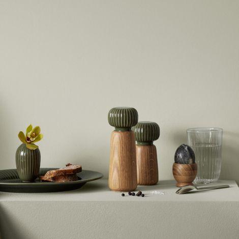 Kähler Design Hammershøi Vase 13 cm dunkelgrün