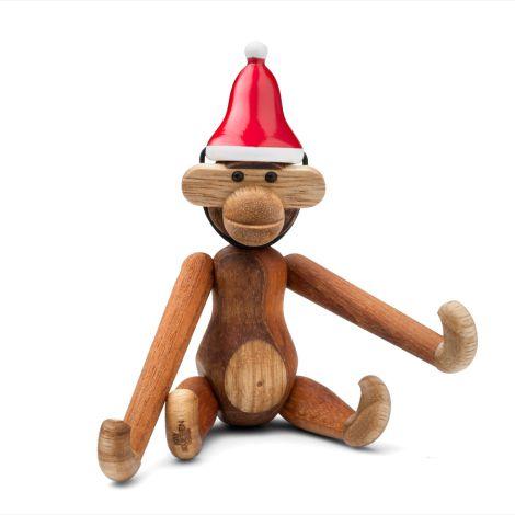 Kay Bojesen Zipfelmütze Affe Mini Rot/Weiß