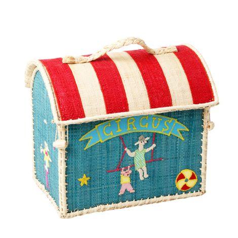 Rice Kleiner Spielzeugkorb/ Tasche Circus 2er-Set •