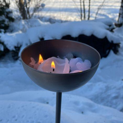 Raumgestalt Kerzenkugel mit Stab, Länge 115 cm