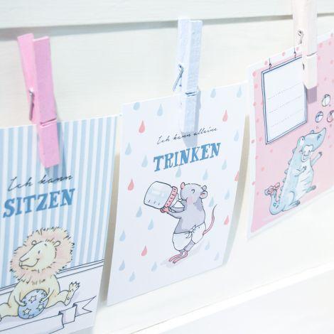 krima & isa Meilenstein-Karte Babytiere 30 Stk. •