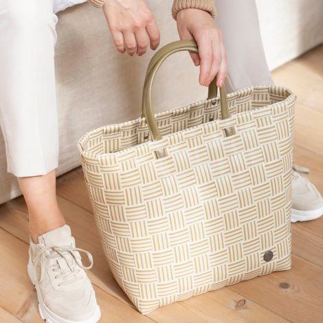 Handed By Shopper Joy mit Innentasche Ecru White