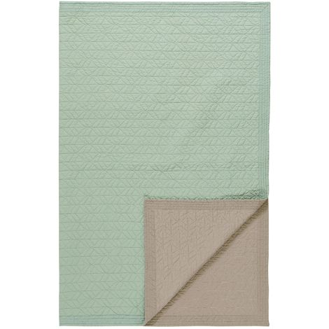PIP Studio Tagesdecke Quilt Leaves Green 150 x 200 cm