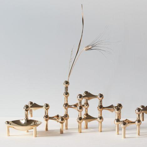 STOFF Nagel Schale Brass