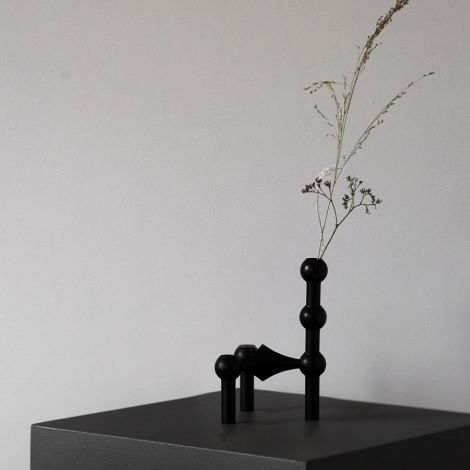 STOFF Nagel Vase Black