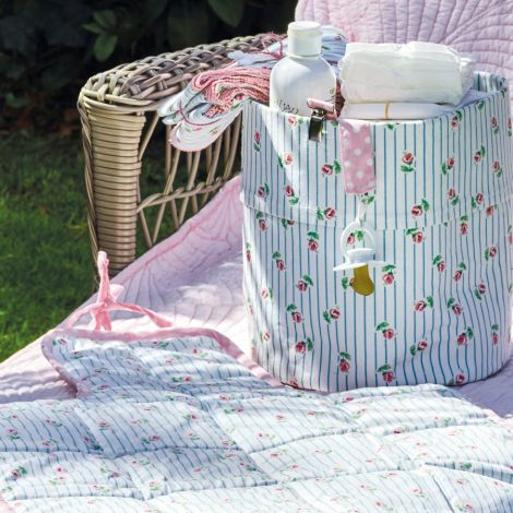GreenGate Baby Wickelunterlage Lily Petit White
