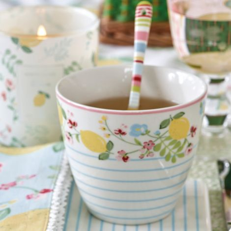 GreenGate Latte Cup Becher Limona White