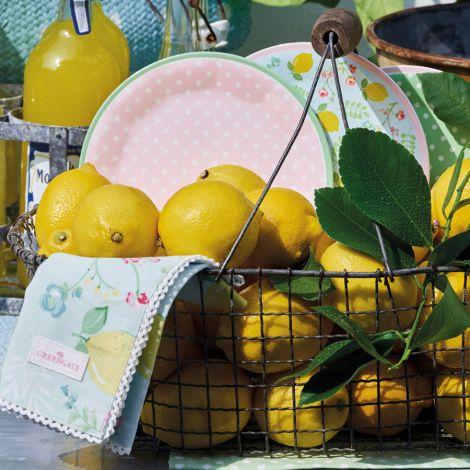 GreenGate Melamin Teller Limona Pale Blue 20 cm