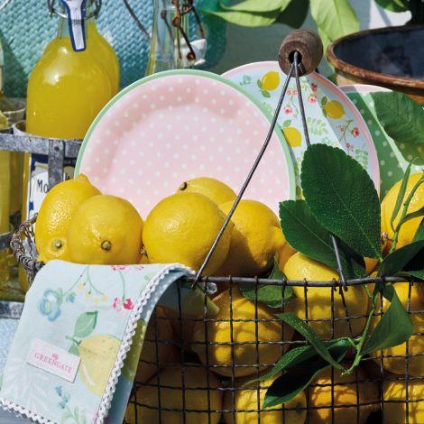 GreenGate Melamin Schüssel Limona White
