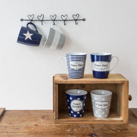 Krasilnikoff Happy Mug Becher mit Henkel Super Opa