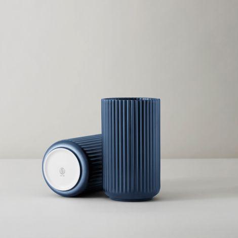 Lyngby Vase Midnight Blue Porzellan 25 cm