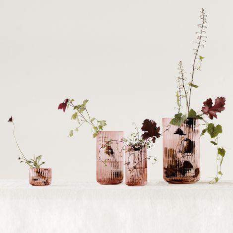 Lyngby Vase Burgundy mundgeblasenes Glas 25 cm