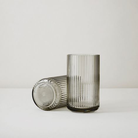 Lyngby Vase Smoke mundgeblasenes Glas 31 cm