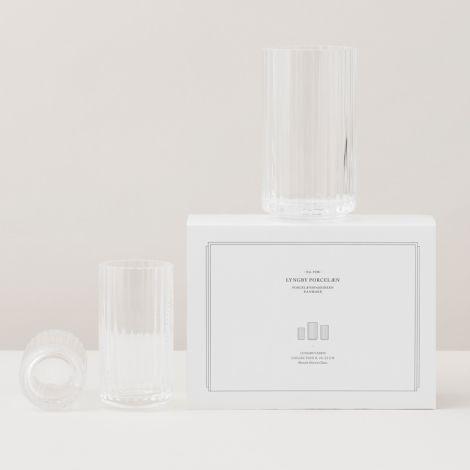 Lyngby Vase Klar mundgeblasenes Glas 25 cm