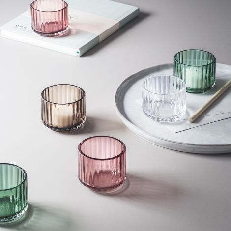 Lyngby Teelichthalter Copenhagen Green mundgeblasenes Glas